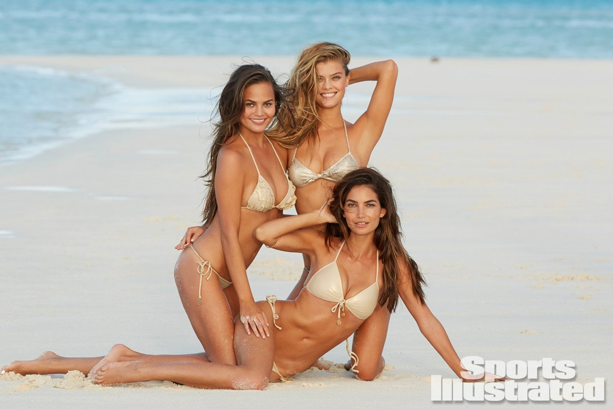 Lily Aldridge and Nina Agdal and Chrissy Teigen