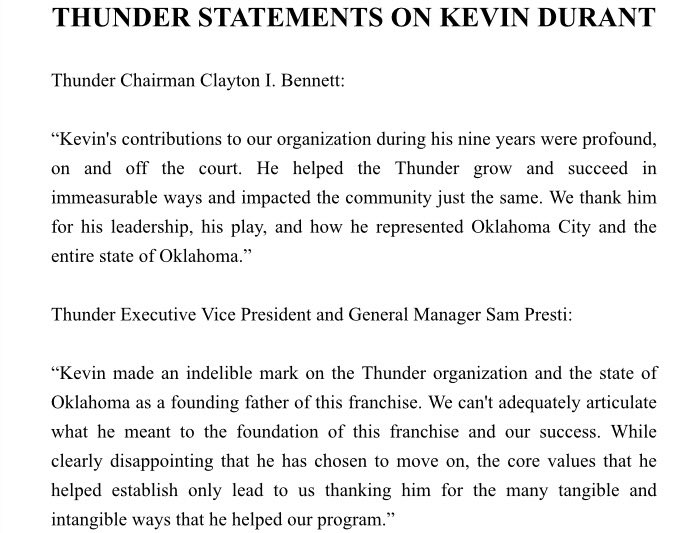 thunderstatement