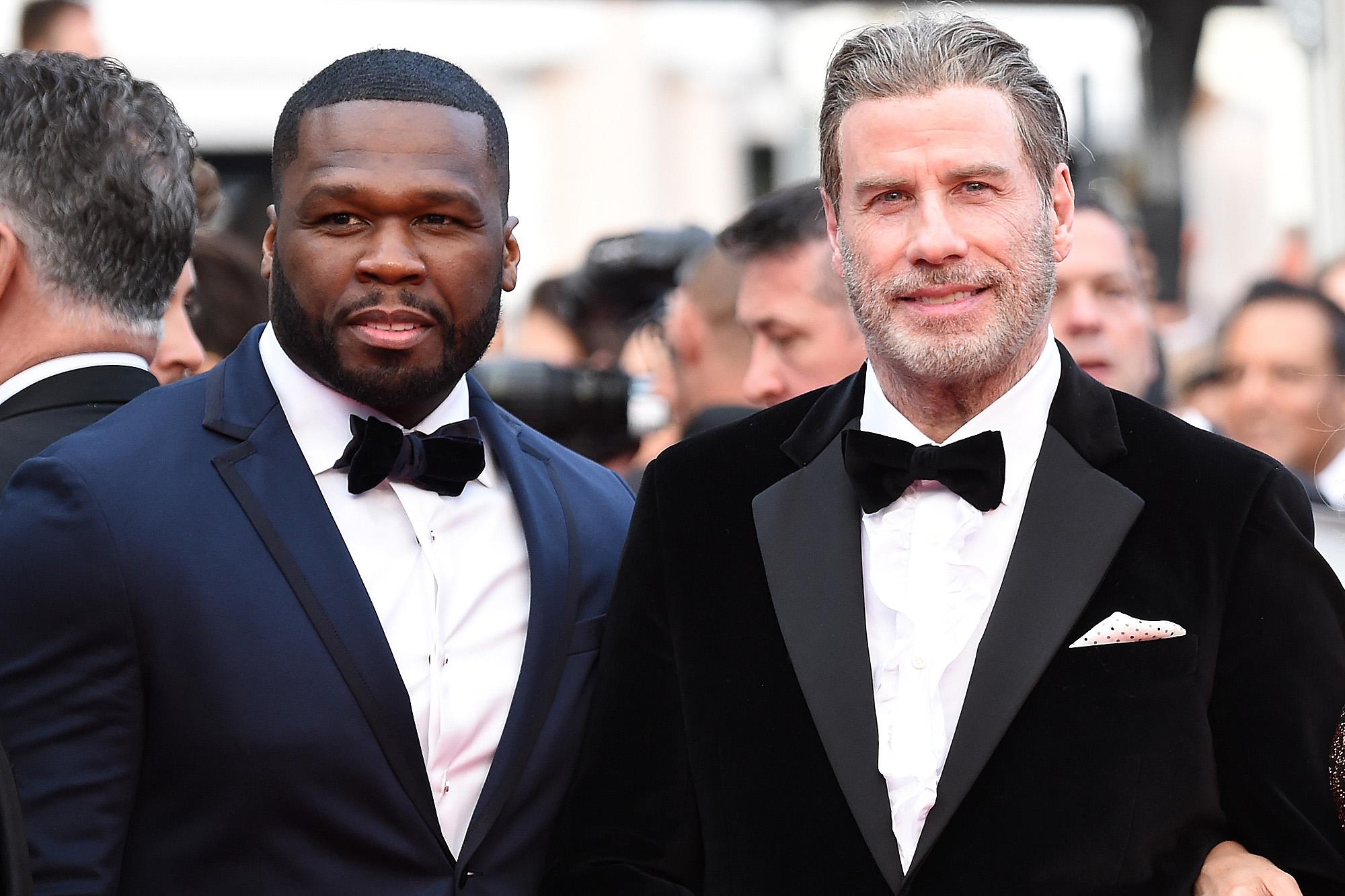 Travolta s'enjaille sur scène avec 50 Cent au Festival de Cannes !
